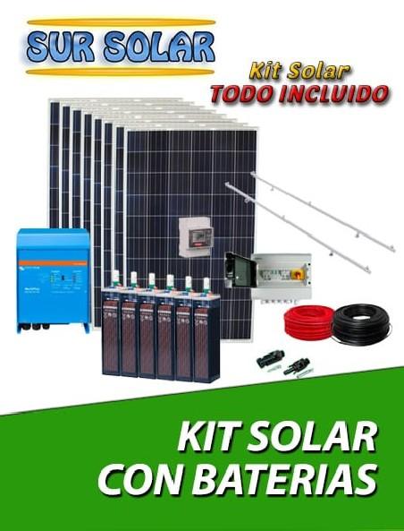 Kits solar con baterías