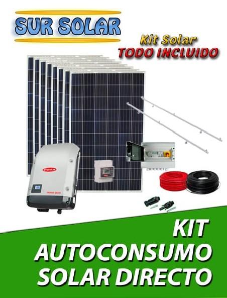 Kits autoconsumo solar directo