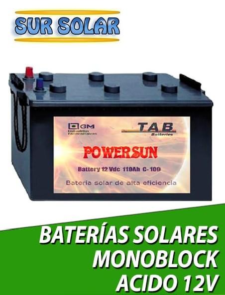 Baterías solares monoblock ACIDO 12V
