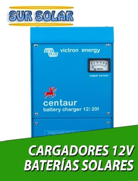 Cargadores baterías solares 12V
